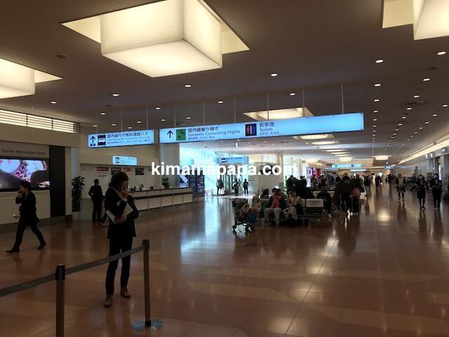羽田第3ターミナル、国内線乗り継ぎへの通路
