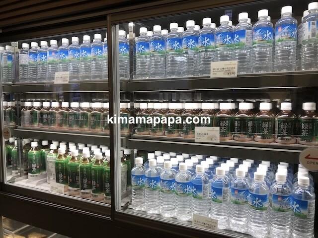 羽田第3ターミナル、curation cafeの水