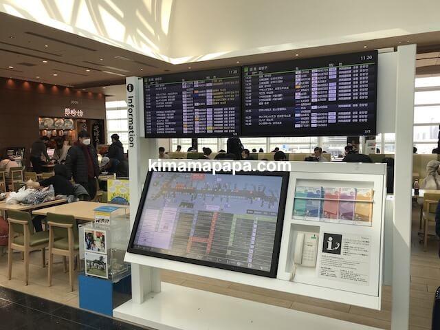 羽田第3ターミナル、フードコートのインフォメーション