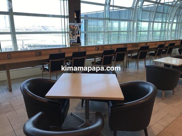 羽田第3ターミナル、フードコートのテーブル