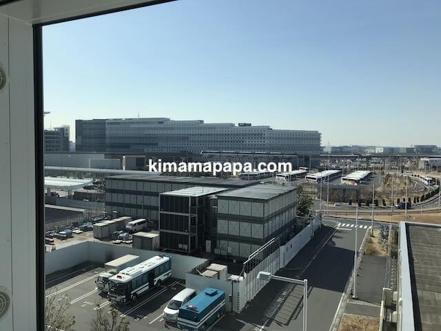 羽田第3ターミナル、トランジットホテルからの景色