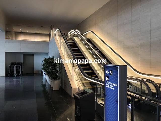 羽田第3ターミナル、トランジットホテルへの通路