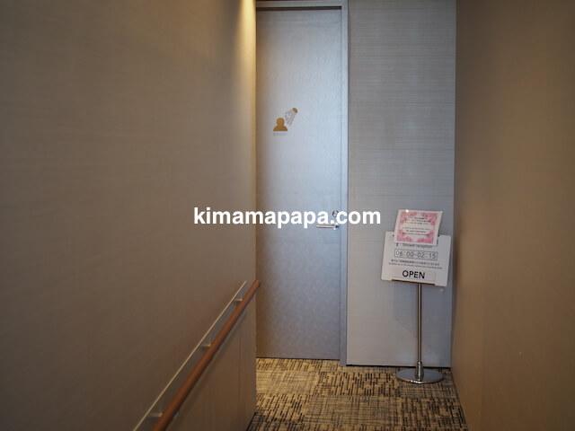 羽田第3ターミナル、JALスカイラウンジannex(臨時)のシャワールーム