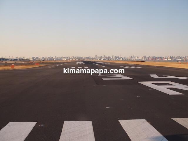 羽田空港、34R滑走路からの離陸