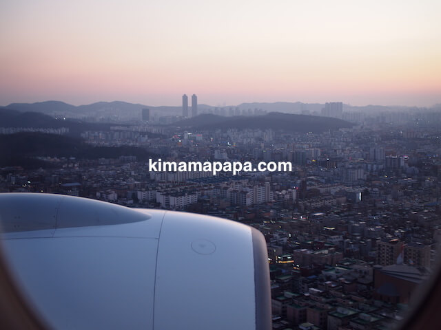 金浦空港上空