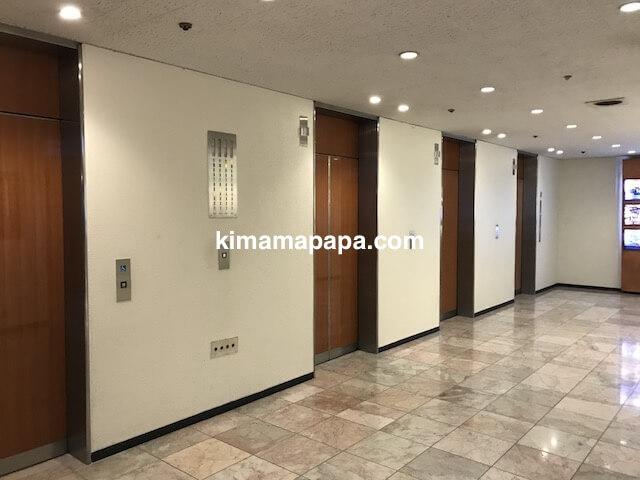 ホテル日航成田、エレベータールーム