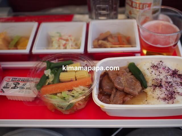 JAL国際線、機内食