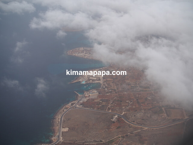 上空から見たマルタ島