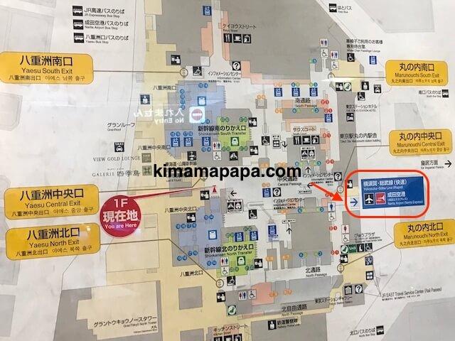 東京駅、地図