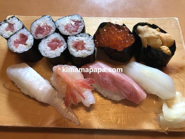 石川、粟津の大西寿司の上にぎりランチ