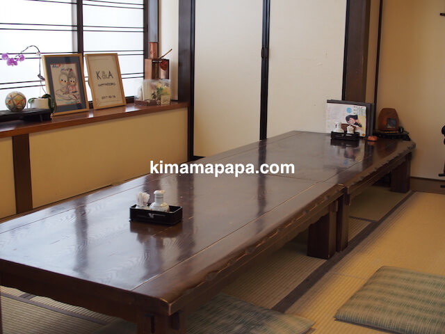 石川、粟津の大西寿司のお座敷