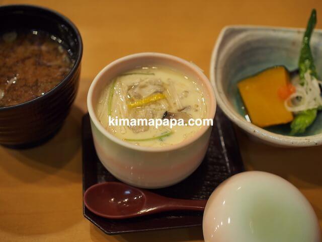 石川、粟津の大西寿司の茶碗蒸しなど