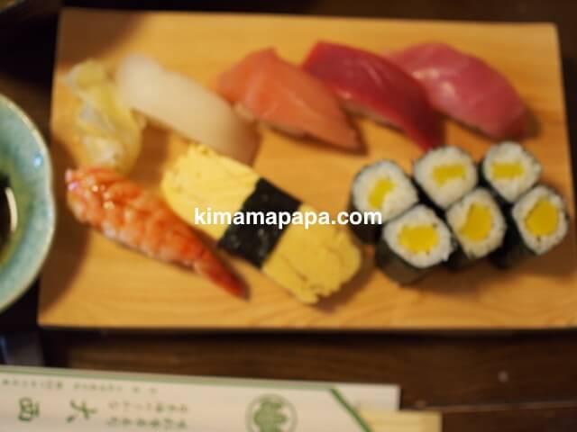 石川、粟津の大西寿司のにぎりランチサビ抜き