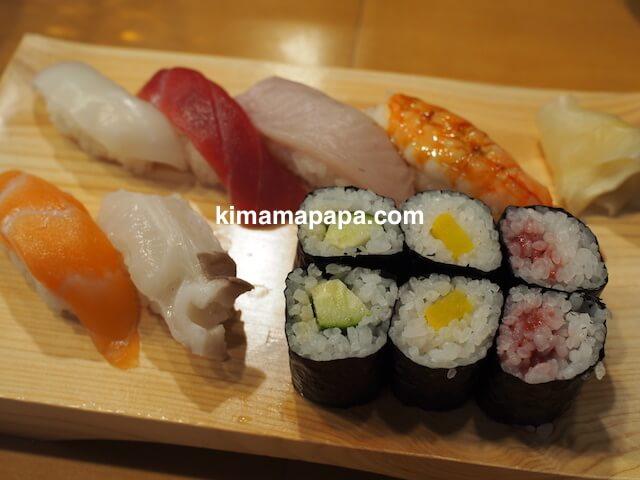 石川、粟津の大西寿司のにぎりランチ