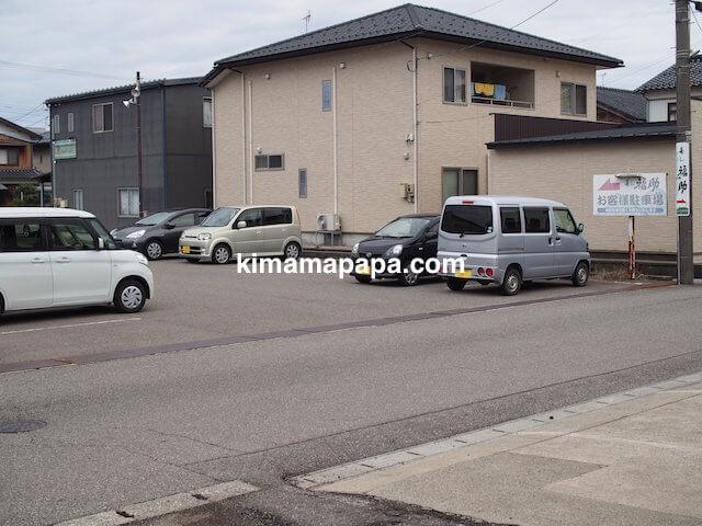 小松、福助の駐車場