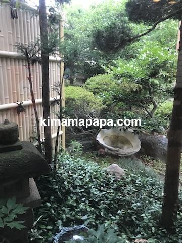 石川、粟津の直又寿司のお庭