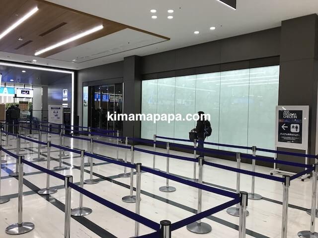 伊丹空港、南ターミナルのANA手荷物検査場