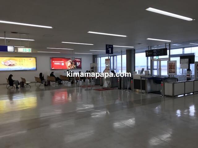 小松空港、JAL1番ゲート