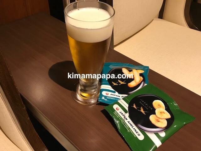 小松空港、サクララウンジのビール
