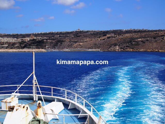 ゴゾ島、船のウェーキ