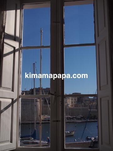 マルタ(スリーシティーズ)、カルカラのヴィラ・デル・ポルトホテルからの眺め
