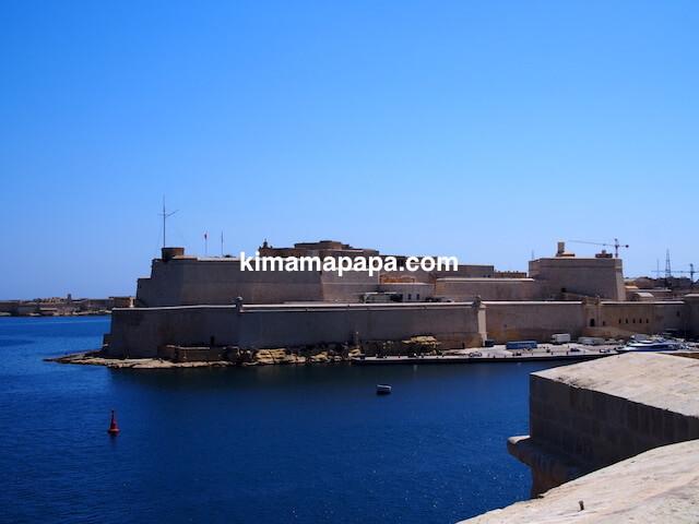 マルタ、セングレアから見た聖アンジェロ砦
