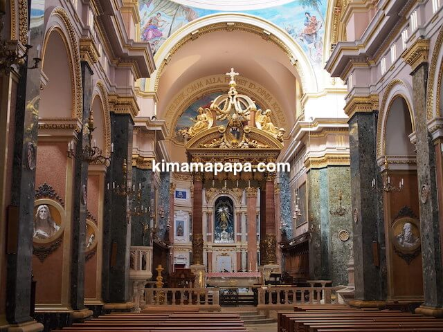 マルタ、勝利の女神教会の祭壇