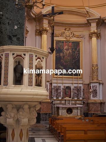 マルタ、勝利の女神教会の内部