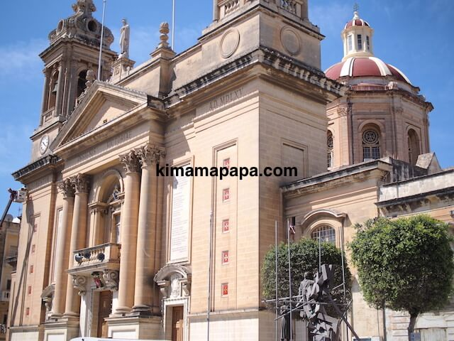 マルタ、勝利の女神教会の外観