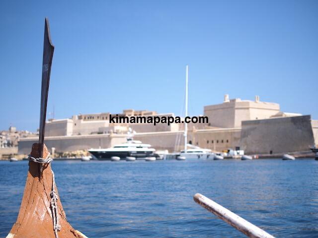 マルタ、ボートから見た聖アンジェロ砦