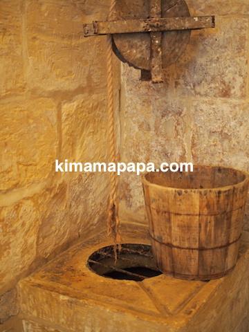 マルタ宗教裁判官宮殿のキッチン(井戸)