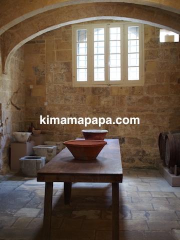 マルタ宗教裁判官宮殿のキッチン