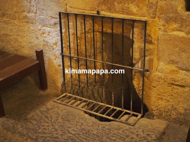 マルタ宗教裁判官宮殿の刑務所トイレ