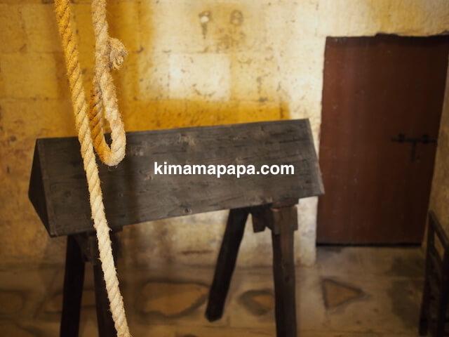 マルタ宗教裁判官宮殿、刑務所の拷問部屋
