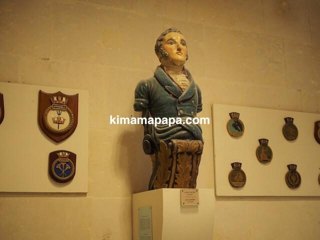 マルタ海洋博物館の船首