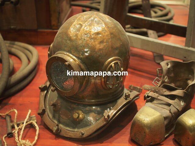 マルタ海洋博物館の潜水服
