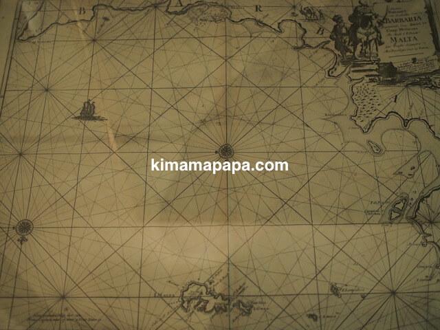 マルタ海洋博物館の海図