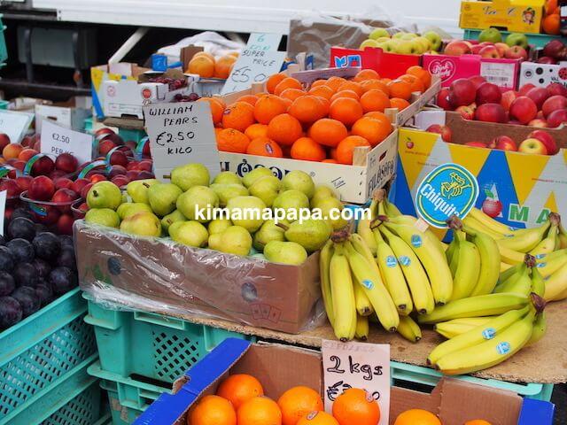 マルタ、リッシェ市場の果物屋