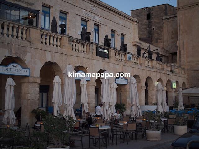 マルタのヴィットリオーザ、ソットベントレストラン