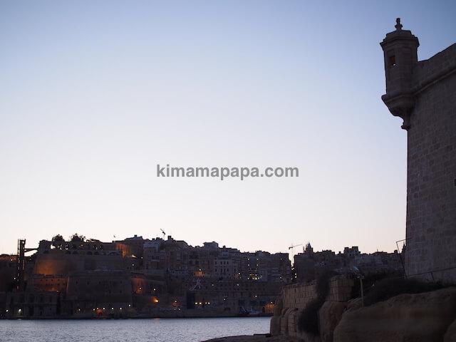 マルタ、ヴィットリオーザから見たヴァレッタ