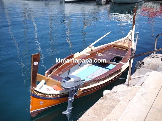 マルタ、ヴィットリオーザの水上タクシー乗り場