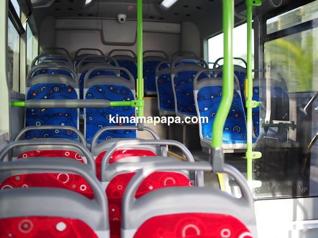 マルタ、バスのシート