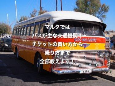 マルタではバスが主な交通機関。チケットの買い方から乗り方まで全部教えます!