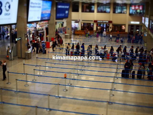 マルタ国際空港、チェックインカウンターの列