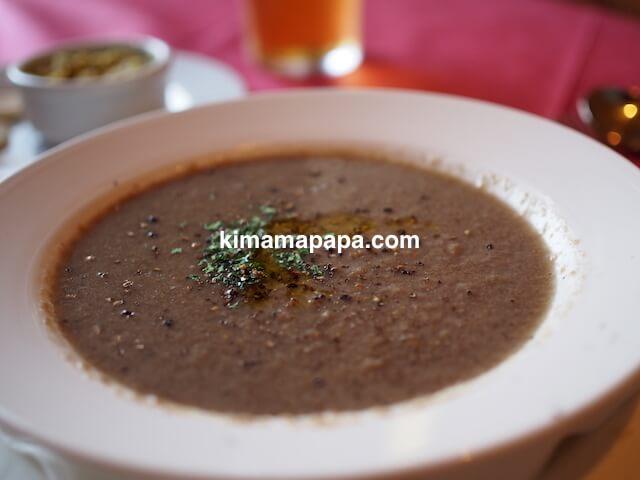 セントジュリアン、ペペロンチーノのマッシュルームスープ