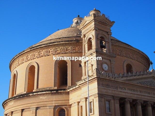 マルタ、モスタ・ロタンダのドーム屋根