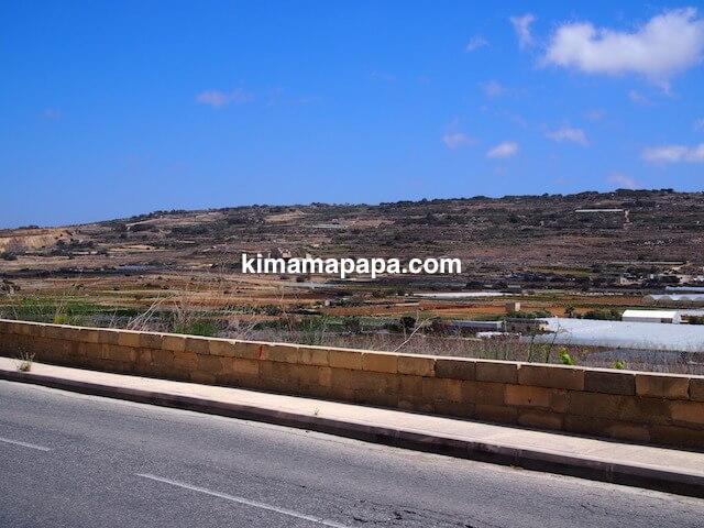 マルタ、スコルバ神殿に向かう景色