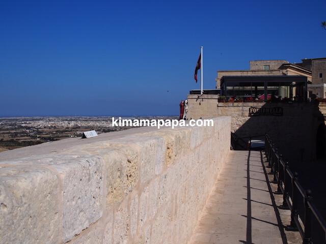 イムディーナ、城壁からの眺め