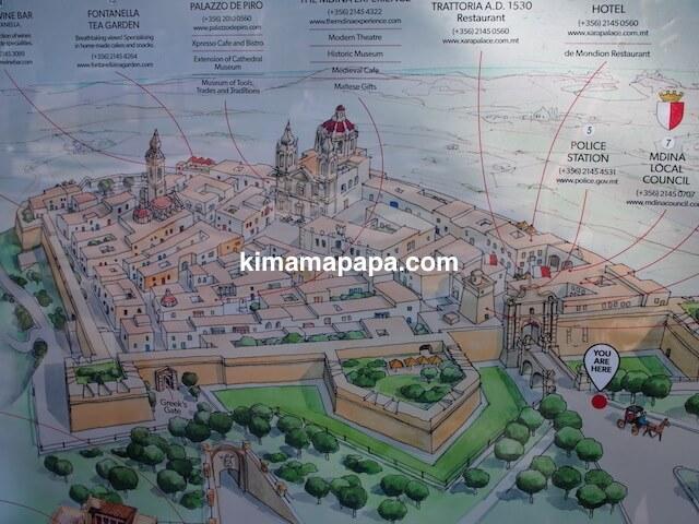 イムディーナの地図