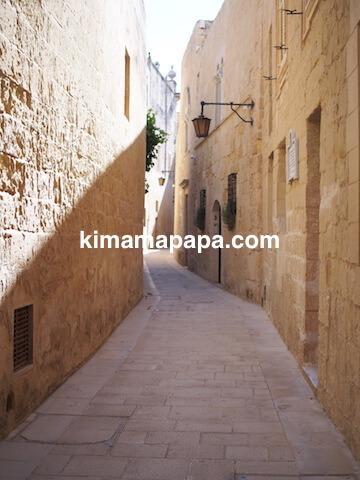 イムディーナ、狭い通り
